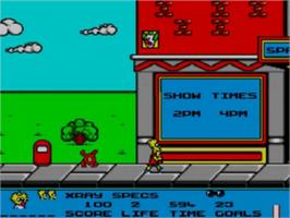 In game image of Simpsons: Bart vs. the Space Mutants on the Sega Game Gear.