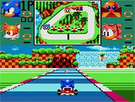 In game image of Sonic Drift 2 on the Sega Game Gear.