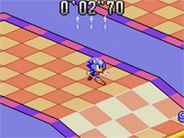 In game image of Sonic Labyrinth on the Sega Game Gear.