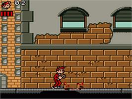 In game image of Spirou on the Sega Game Gear.