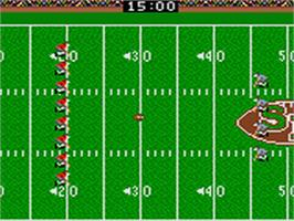 In game image of Sports Illustrated Championship Football & Baseball on the Sega Game Gear.