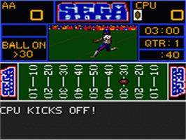 In game image of Sports Trivia: Championship Edition on the Sega Game Gear.