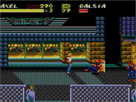 In game image of Streets of Rage 2 on the Sega Game Gear.