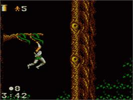 In game image of Strider 2 on the Sega Game Gear.