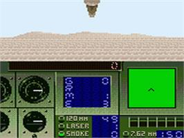 In game image of Super Battletank: War in the Gulf on the Sega Game Gear.