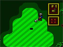 In game image of Super Golf on the Sega Game Gear.