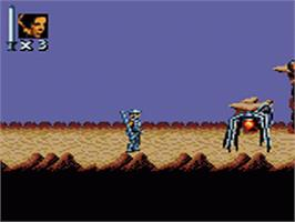 In game image of Super Star Wars: Return of the Jedi on the Sega Game Gear.