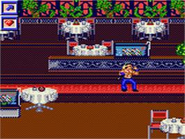 In game image of Surf Ninjas on the Sega Game Gear.