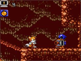 In game image of Tails' Adventure on the Sega Game Gear.