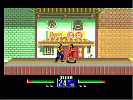In game image of Virtua Fighter Animation on the Sega Game Gear.