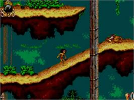 In game image of Walt Disney's The Jungle Book on the Sega Game Gear.