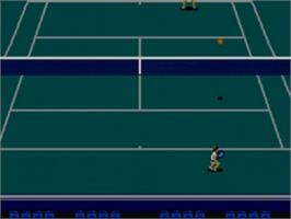 In game image of Wimbledon Championship Tennis on the Sega Game Gear.