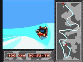 In game image of Winter Olympics: Lillehammer '94 on the Sega Game Gear.