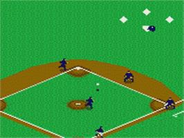 In game image of World Series Baseball '95 on the Sega Game Gear.