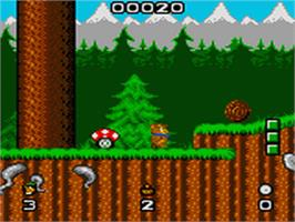 In game image of Yogi Bear in Yogi Bear's Goldrush on the Sega Game Gear.