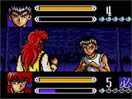 In game image of Yu Yu Hakusho II: Gekitou! Nanakyou no Tatakai on the Sega Game Gear.