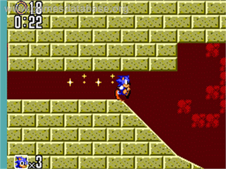 Sonic The Hedgehog 2 Sega Game Gear Artwork In Game
