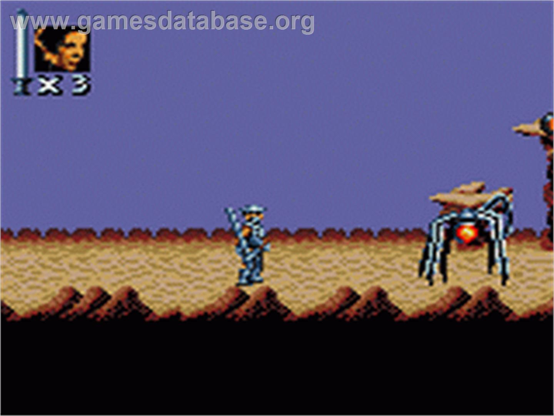 In game image of Super Star Wars: Return of the Jedi on the Sega Game