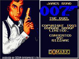 Title screen of 007: The Duel on the Sega Game Gear.