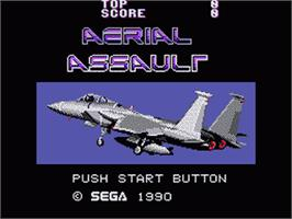 Title screen of Aerial Assault on the Sega Game Gear.