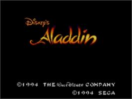 Title screen of Aladdin on the Sega Game Gear.