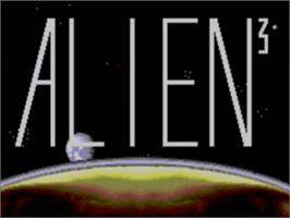 Title screen of Alien³ on the Sega Game Gear.