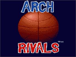 Title screen of Arch Rivals on the Sega Game Gear.