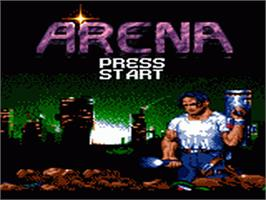 Title screen of Arena: Maze of Death on the Sega Game Gear.