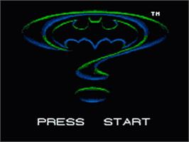 Title screen of Batman Forever on the Sega Game Gear.