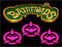 Title screen of Battle Toads on the Sega Game Gear.