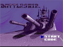 Title screen of Battleship on the Sega Game Gear.