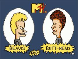 Title screen of Beavis and Butt-head on the Sega Game Gear.