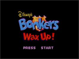Title screen of Bonkers: Wax Up on the Sega Game Gear.