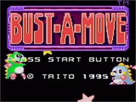 Title screen of Bust a Move on the Sega Game Gear.