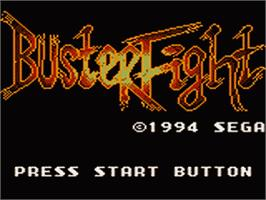 Title screen of Buster Fight on the Sega Game Gear.