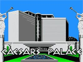 Title screen of Caesar's Palace on the Sega Game Gear.