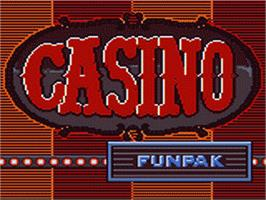Title screen of Casino FunPak on the Sega Game Gear.