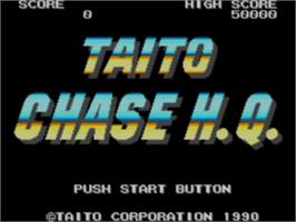 Title screen of Chase H.Q. on the Sega Game Gear.