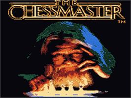 Title screen of Chessmaster on the Sega Game Gear.