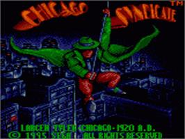 Title screen of Chicago Syndicate on the Sega Game Gear.