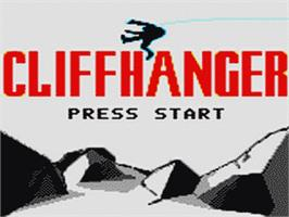 Title screen of Cliffhanger on the Sega Game Gear.