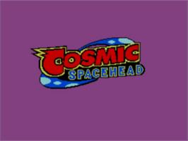 Title screen of Cosmic Spacehead on the Sega Game Gear.