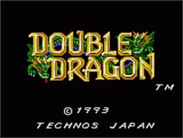Title screen of Double Dragon on the Sega Game Gear.