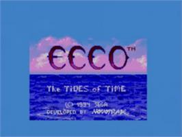 Title screen of Ecco 2: The Tides of Time on the Sega Game Gear.