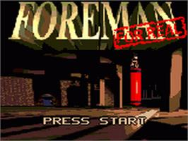 Title screen of Foreman for Real on the Sega Game Gear.