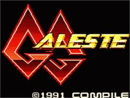 Title screen of GG Aleste on the Sega Game Gear.