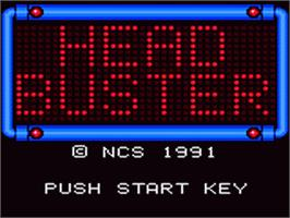 Title screen of Head Buster on the Sega Game Gear.