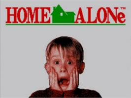 Title screen of Home Alone on the Sega Game Gear.