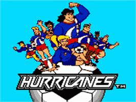 Title screen of Hurricanes on the Sega Game Gear.