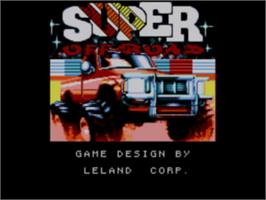 Title screen of Ironman Ivan Stewart's Super Off-Road on the Sega Game Gear.